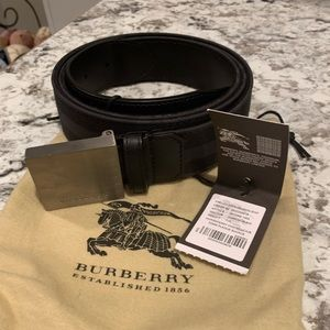 Burberry Charcoal Horseferry Check Plaque Belt